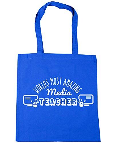 HippoWarehouse más sorprendente del mundo medios de comunicación profesor bolsa de la compra bolsa de playa 42cm x38cm, 10litros Azul Aciano