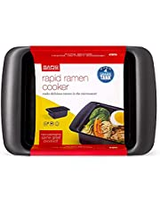 Rapid Ramen Cooker | Microwavable Cookware for Instant Ramen | BPA Free and Dishwasher Safe | Available in Red and Black | Perfect for Dorm, Small Kitchen or Office (1 Pack, Black)