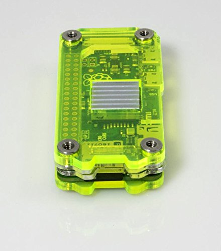 Zebra Zero for Raspberry Pi Zero & Zero Wireless - Laser Lime w Heatsinks by C4 Labs (Image #2)
