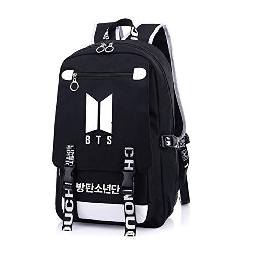NUOFENG Kpop Canvas Backpack Bangtan Boys Satchel Schoolbag Casual Daypack Laptop Bags