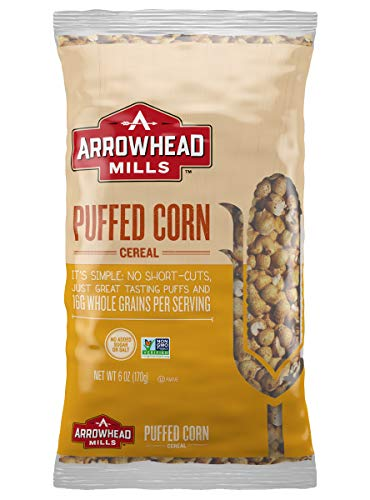 Corn Puffs Organic (Arrowhead Mills Cereal, Puffed Corn, 6 Bag (Pack of 12))
