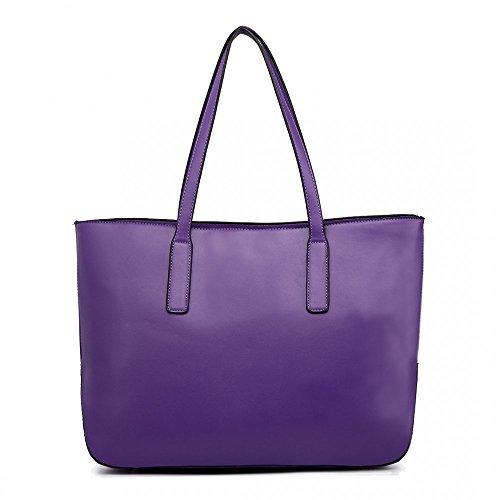 Miss Lulu - Bolsa Niñas Mujer Purple (3-IN-1)