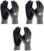 Maxiflex 34-874 Ultimate Nitrile Grip Work Gloves, Large, 3 Pair