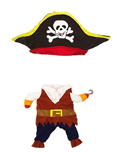 Cool Halloween Costumes For Dogs (Puppy Clothes Neartime Halloween Pirate Cool Cute Dog Pet Cosplay Costume Clothing (S, Brown))