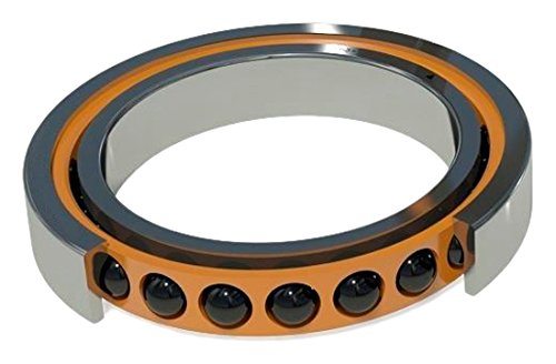 Image of Angular Contact Bearings Barden Bearings C116HCRRUL Angular Contact Single Ball Bearing, Ceramic, Spindle, Light Preload, Double Seal, Contact Angle 15 Degree, Bore 80 mm, 125 mm OD