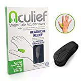 Aculief - Award Winning Natural Headache, Migraine, Tension Relief Wearable – Supporting Acupressure Relaxation, Stress Alleviation, Soothing Muscle Pain - Simple, Easy, Effective 1 Pack