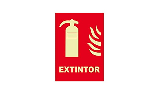 CARTEL EXTINTOR INDICADOR EXTINTORES SEÑALIZACION