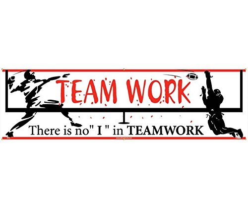 National Marker BT24 Teamwork There Is No ''I'' In Teamwork Banner