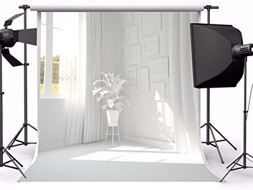 GoHeBe Classic Style Building Interior Backdrop 10x10ft Vinyl Photography Background Chic Plain Theme Door Background