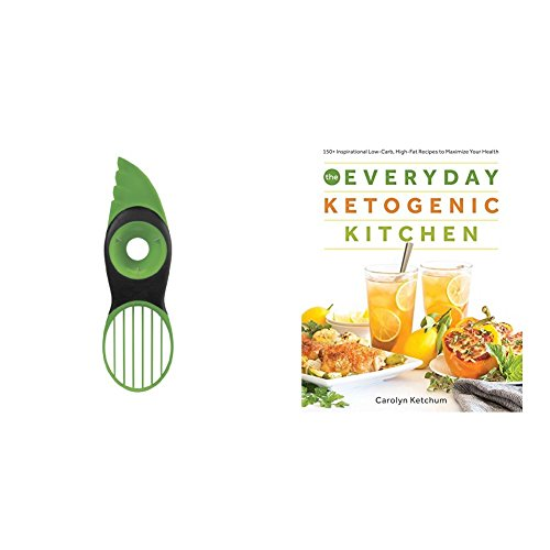 The Everyday Ketogenic Kitchen: With More than 150 Inspirational Low-Carb, High-Fat Recipes to Maximize Your Health & Victorinox Fibrox Pro Chef's Knife, 8-Inch Chef's
