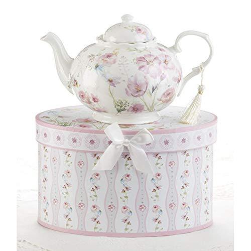 Delton 9.5X5.6 Porcelain Tea Pot, - Teapot Delton