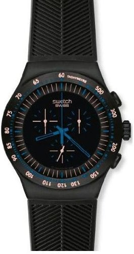 Swatch Men's YOB103 Stainless Steel Black Dial Chronograph Watch by Swatch