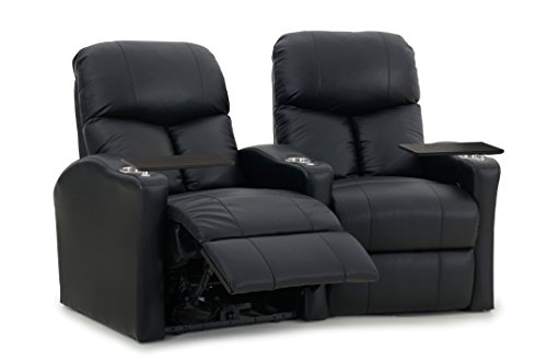 Octane Seating BOLT-R2CM-BND-BL Bolt XS400 Leather Home Theater Recliner Set (Row of 2)