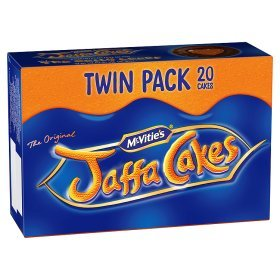 Chocolate Cake Biscuit - Original McVitie's The Original Jaffa Cakes Twin Pack Imported From The UK England The Very Best Original British Jaffa Cakes A Genoise Sponge Base Layer Of Orange Flavored Jam Coating Of Sponge