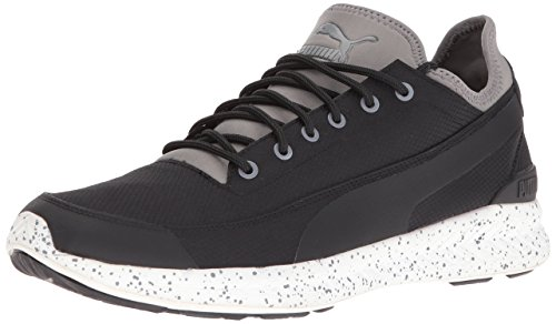 Calzino Ignite da uomo Winter Tech Fashion Sneaker da uomo, Puma Black-Steel Grey, 13 M US