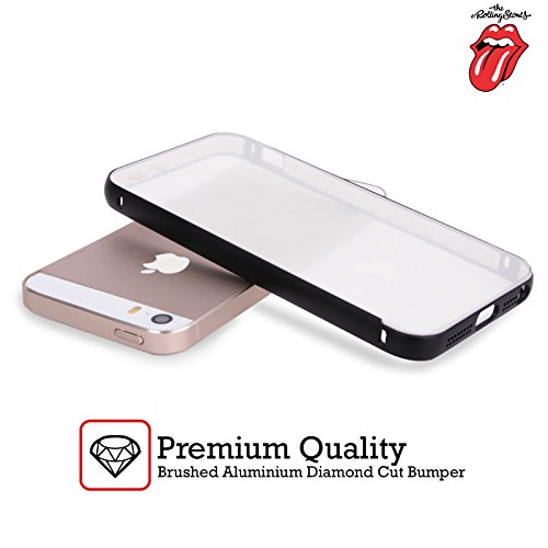 Officiel The Rolling Stones Langue De Drapeau Américaine Art Clé Argent Étui Coque Aluminium Bumper Slider pour Apple iPhone 5 / 5s / SE