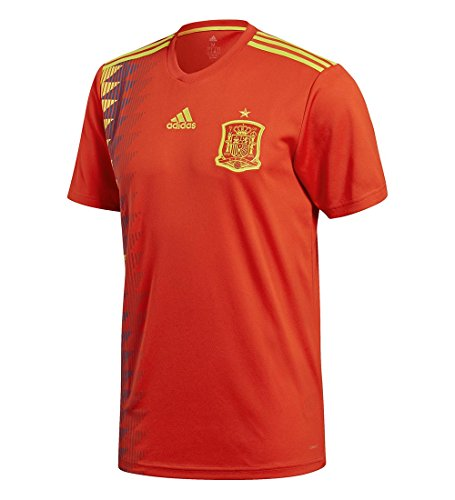 adidas Men's 2018 Spain Home Jersey Red/Bold Gold Large (Fifa Soccer Jerseys)