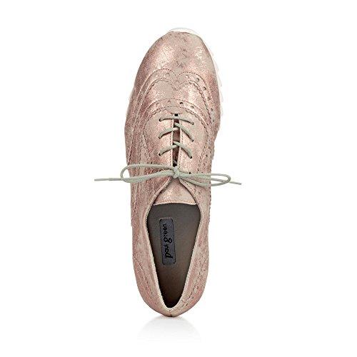 Paul Green 4433-039 Damen Sneaker Aus Veloursleder Leichte Strukturierte Sohle Rosé
