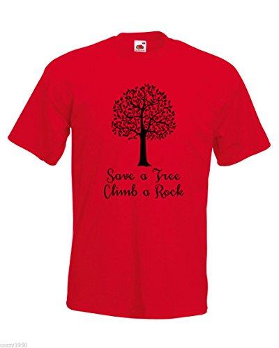 Citation Hasard Escalader Cadeau Abstrait Avec Énorme Rouge Save Décalque Au Chemise A Rocher Modèle Feuilles Gratuit T D'arbre Hommes Arbre shirt Un Nature wFq4t