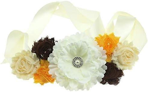 Dorliona Bridal Wedding Dress Waist Paw Peony Broken Chiffon