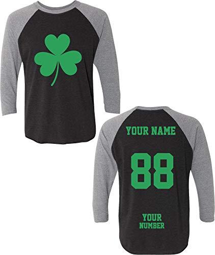 Custom Jerseys St Patrick's Day T Shirts ~ Saint Pattys Baseball Raglans Irish Outfits ☘☘