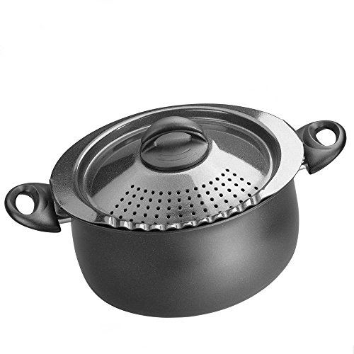 bialetti 07265 oval 5 quart pasta pot with strainer lid import it all. Black Bedroom Furniture Sets. Home Design Ideas
