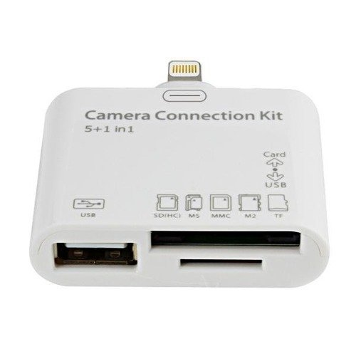 5 en 1 Puerto de conexiones para ipad 3, mini ipad, generación HD y Ipad 4 con Retina Display 4ª Generación - conector lightning| - Camara connection kit ...
