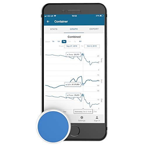Tempo Disc Bluetooth Wireless Thermometer, Hygrometer and Dew Point Sensor Beacon and Data Logger. Remote Monitor for Temperature, Humidity and Dew Point. For iOS and Android. (Bluetooth Beacon Smart)