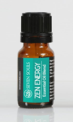 ZEN ENERGY Yoga & Meditation Essential Oils Blend. Jasmine and Sandalwood. Ideal for Reiki Sessions, Yoga, Meditation and Balancing - Blend Angel Oil Essential