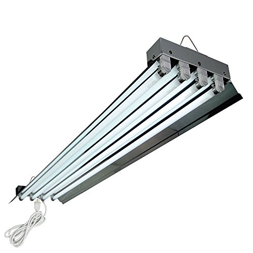 HTGSupply 4-Foot / 4-Tube High-Output T5 Fluorescent Grow Light Fixture, Bulbs Included