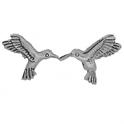 Corinna-Maria 925 Sterling Silver Hummingbird Earrings Studs Tiny Mini Stainless Steel Posts and Backs