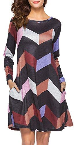 ZJCT Womens Sleeve T Shirt Dresses product image