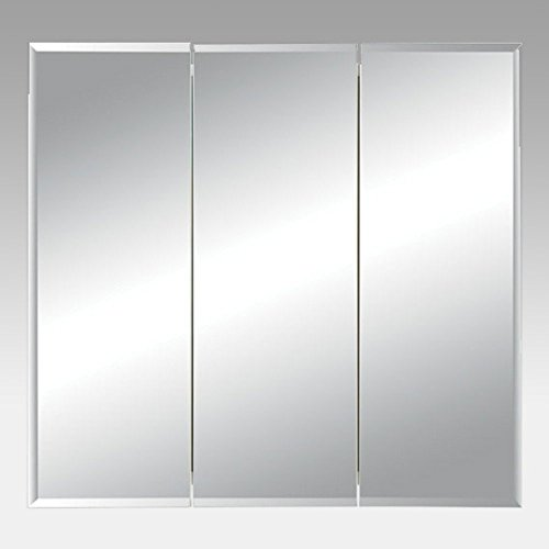Jensen Medicine Cabinet Horizon Triple Door 30W x 28.25H in. Surface Mount Medicine Cabinet 255230