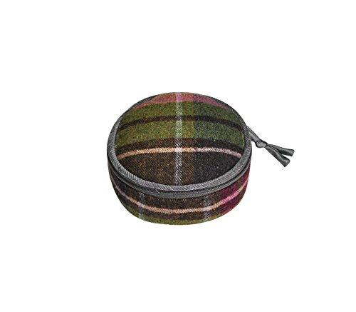 Terra Squared–rotonda sacchettino–lana tweed–lampone–10x 5cms