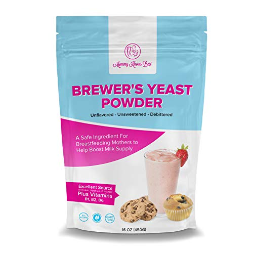 Brewers Yeast Powder for Lactation - Mommy Knows Best Brewer's Yeast for Breastfeeding Mothers - Mild Nutty Flavored Unsweetened and Debittered - Helps Boost Breast Milk Supply