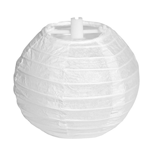 Paper Lanterns , SHEJIZHE Lamp Shades (3-Inch, White, Set of 20) – White Paper Chinese/Japanese Hanging Decorations - For Home Decor, Parties and Weddings