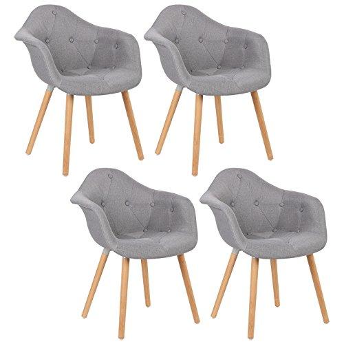 Esszimmerstühle woltu bh55gr 4 4 x esszimmerstühle 4er set esszimmerstuhl mit lehne