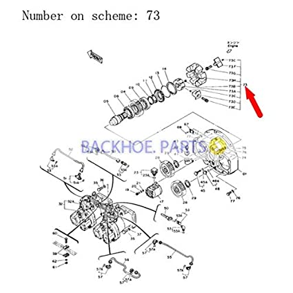 amazon com: for john deere excavator 790d 792dlc main hydraulic pump  coupling assy 4118705: automotive