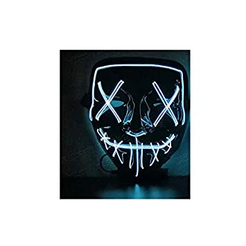 Waymeduo Halloween Máscara LED Ligero Gracioso Máscaras Estupendo ...