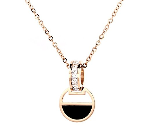 16695988e0bd Madrian necklace Breve Moda Rosa De Oro 18K Cristal Collar