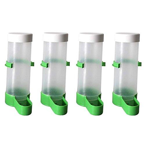 Beetest 4pcs Bird Water Feeder Dispenser Bottle Drinking Cup Bowls for Pet...