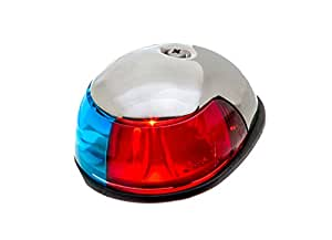 attwood Corporation 3810-7 Red/Green Navigation Light Deck Mount