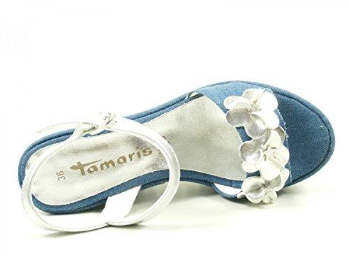 Sandales Coin Plateau Tamaris 1-28038-38 Sandales Bleu Dames