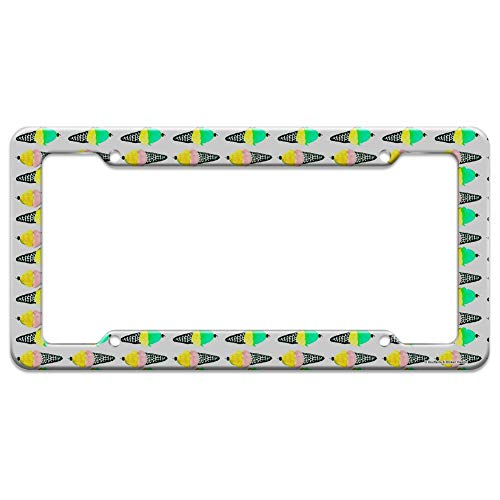 (Graphics and More Ice Cream Cones Pattern License Plate Tag Frame)