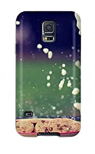 Premium KAGiMiR2245wmkXS Case With Scratch-resistant/ Milk And Cookies Case Cover For Galaxy S5
