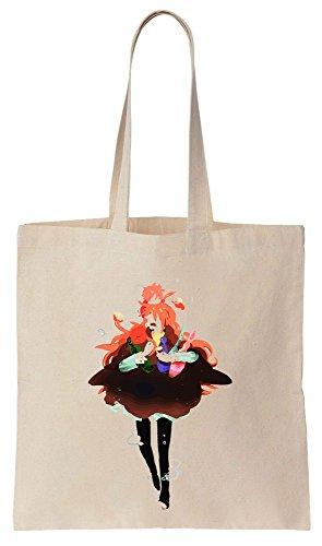 Bolsos Shoulders And Ponyo His de Algodón Tote Artwork On de Compras Reutilizables Fujimoto Bag wqRId88