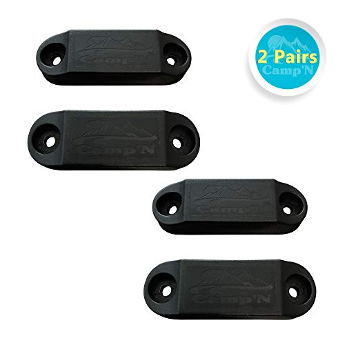 #1 Selling/Rated - Magnetic Baggage Door Catch - Holder - Clip - Latch for RV, Trailer, Camper, Motor Home, Cargo Trailer, Boat Compartments - Replaces Plastic Spring Clips (Black 2-Pair)
