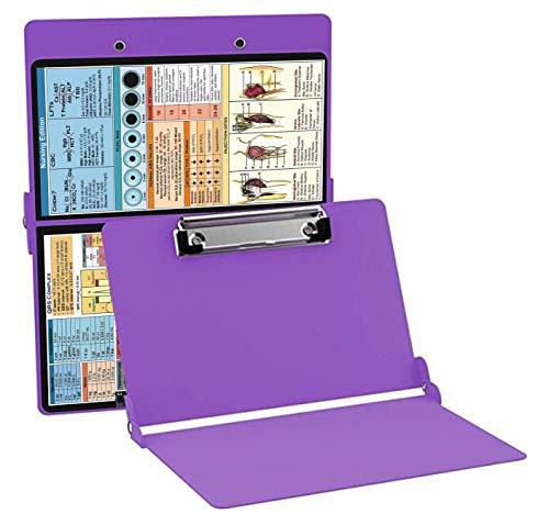Nursing Clipboard Purple (Aluminum Clipboard Nursing Edition Purple) Folding Clipboard for Nurses, Doctors, Medical Students