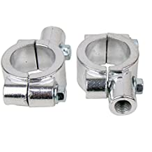 """CHROME Motorcycle 1"""" 25mm handle bar Clamp with 10mm clockwise thread Mirror Mount for 2001 Harley-Davidson Heritage Softail Classic EFI FLSTCI"""