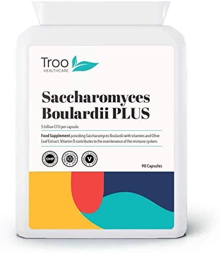 Troo Health Care Saccharomyces Boulardii Supplement – 90 Capsules – High Strength, 5 Billion cfu Organisms per Capsule…